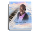 Ivory Perfect Bind Funeral Guest Book 8x10 with photo