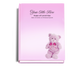 NurseryGirl Perfect Bind Funeral Guest Book 8x10