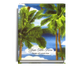 Paradise Perfect Bind Funeral Guest Book 8x10