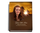 Renewal Perfect Bind Memorial Funeral Guest Book 8x10 with photo