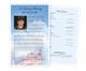 Air Force Half Sheet Funeral Flyer Template