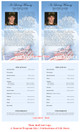 Air Force Half Sheet Funeral Flyer Template inside view