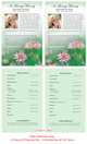 Ambrosia Half Sheet Funeral Flyer Template inside view