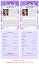 Amethyst Half Sheet Funeral Flyer Template inside view
