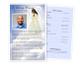 Angel Half Sheet Funeral Flyer Template