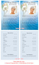 Angelic Half Sheet Funeral Flyer Template inside view