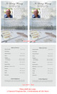Angler Half Sheet Funeral Flyer Template inside view