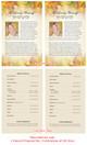 Autumn Half Sheet Funeral Flyer Template inside view