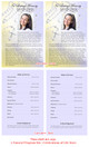 Beads Funeral Flyer Half Sheets Template inside view