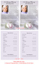 Beloved Funeral Flyer Half Sheets Template inside view