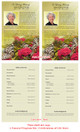 Bouquet Funeral Flyer Half Sheets Template inside view