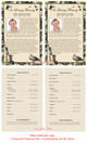 Camoflauge Funeral Flyer Half Sheets Template inside view