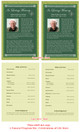 Celtic Funeral Flyer Half Sheets Template inside view
