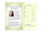 Christie Funeral Flyer Half Sheets Template