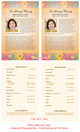 De Colores Funeral Flyer Half Sheets Template inside view
