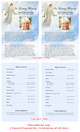 Devout Funeral Flyer Half Sheets Template