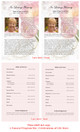 Pearls Funeral Flyer Half Sheets Template inside view