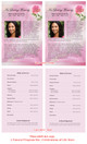 Petals Funeral Flyer Half Sheets Template inside view