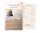 Radiance Funeral Flyer Half Sheets Template