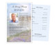 Seascape Funeral Flyer Half Sheets Template