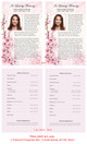 Spring Funeral Flyer Half Sheets Template inside view