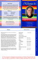 Acapulco Letter 4-Sided Graduated Funeral Program Template inside view