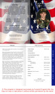 US Flag Letter 4-Sided Funeral Graduated Program inside view