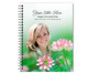 Ambrosia Spiral Wire Bind Memorial Guest Book with photo
