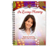 Bonita Spiral Wire Bind Memorial Guest Book with photo
