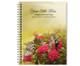 Bouquet Spiral Wire Bind Memorial Guest Book