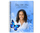 Butterfly Spiral Wire Bind Memorial Guest Book with photo