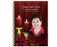 Candlelight Spiral Wire Bind Memorial Guest Book with photo