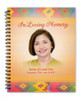 DeColores Spiral Wire Bind Memorial Guest Book Registry with photo