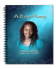 Devotion Spiral Wire Bind Memorial Guest Book Registry with photo