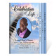 Ivory 8-Sided Funeral Graduated Program Template (Letter Size)