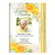 Joyful 8-Sided Graduated Funeral Program Template