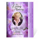 Lavender 8-Sided Funeral Graduated Program Template