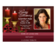 Candlelight Bottom Graduated Funeral Template
