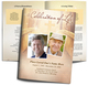 Crossing Large Tabloid Funeral Booklet Template