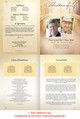 Crossing Large Tabloid Funeral Booklet Template inside view
