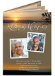 Kenya DIY Large Tabloid Funeral Booklet Template front