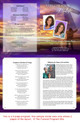 Worship DIY Large Tabloid Funeral Booklet Template inside view