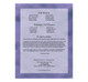 Lilac Ready-Made DIY Legal Funeral Booklet Template back cover