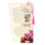 Golden DIY Funeral Memorial Bookmark Template