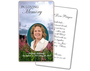 Seasons Funeral Prayer Card Template
