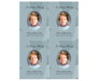Dove DIY Funeral Card Template front
