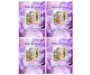 Lavender DIY Funeral Card Template front