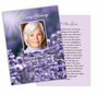 Lilac DIY Funeral Card Template
