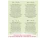 Plumeria DIY Funeral Card Template inside