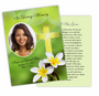 Plumeria DIY Funeral Card Template